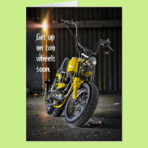 Get Well Soon Motorcycle Accident Card