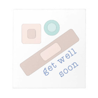 Get Well Soon Note Pad