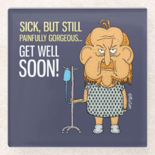get well soon drink beverage coasters zazzle