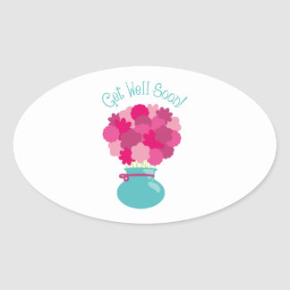 Get Well Soon! Oval Sticker