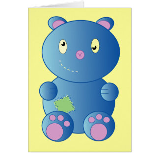 Get Well Soon Patch Bear Card