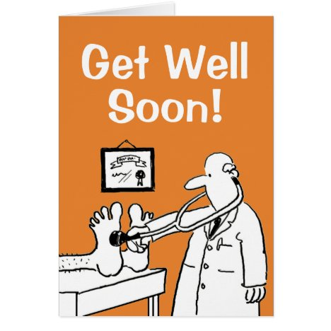 Get Well Soon - Personalise Inside Message Card