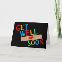 Get Well Soon Plaster And Heart Card