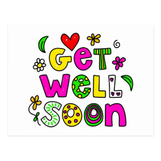 Get Well Soon Post Cards