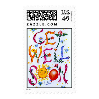 Get Well Soon Postage Stamp