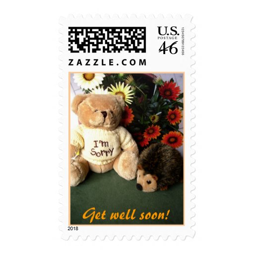 Get well soon! postage stamps