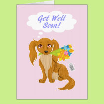 Get Well Soon Puppy Big Card