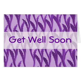 Get Well Soon purple branches Card