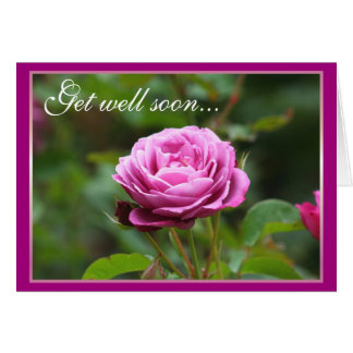 Get well soon rose greeting card