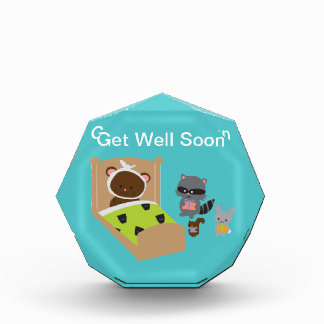 Get Well Soon Sick Bear and Animal Friends Award