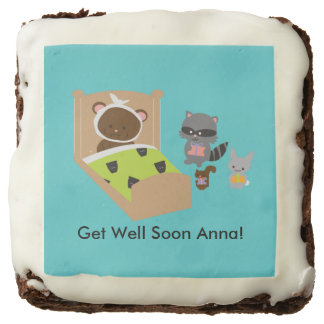Get Well Soon Sick Bear and Animal Friends Brownie