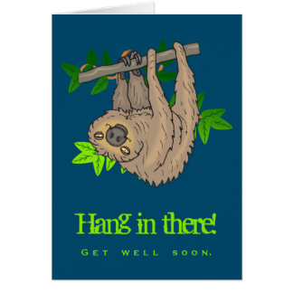 Get Well Soon Sloth Card