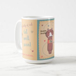 Get Well Soon Sniffle Sniffle Bear Coffee Mug