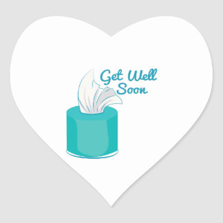 Get Well Soon Heart Sticker