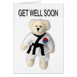 Get Well Soon Tae Kwon Do Card