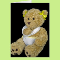 Get well soon teddy bear card