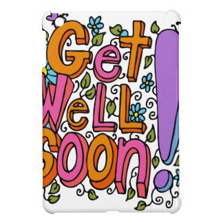 Get Well Soon Text Cartoon Cover For The iPad Mini