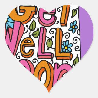 Get Well Soon Text Cartoon Heart Sticker