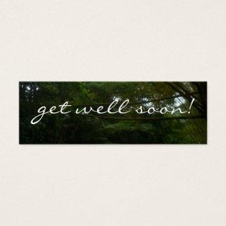 Get Well Soon Tropical Rainforest Trees Mini Business Card
