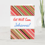 "[ Thumbnail: ""Get Well Soon"" + Watermelon-Inspired Stripes Card ]"