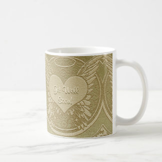 Get Well Soon with Angel Wings Coffee Mug