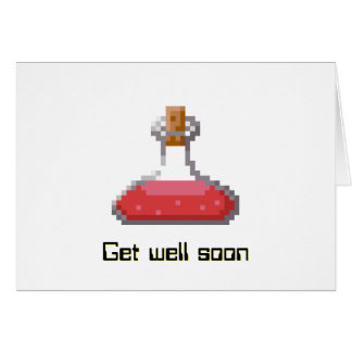 Get Well Soon with Healing Potion Card