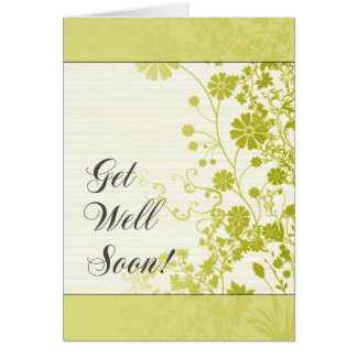 Get Well Soon (Yellow) Card