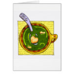 """""""get well soup"""" greeting card"""