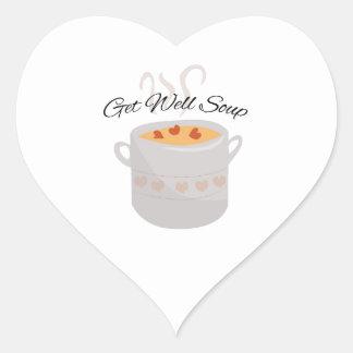 Get Well Soup Heart Sticker