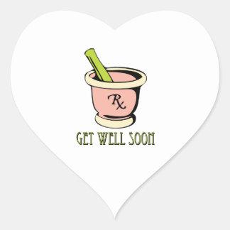 Get Well Heart Sticker
