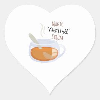 Get Well Syrum Heart Sticker