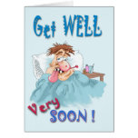 Get well very soon greeting card