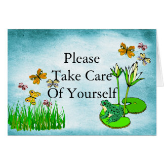 Get Well Water Pond Set Card