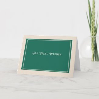 Get Well Wishes Corporate Card