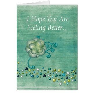 Get Well Wishes (Teal) Cards