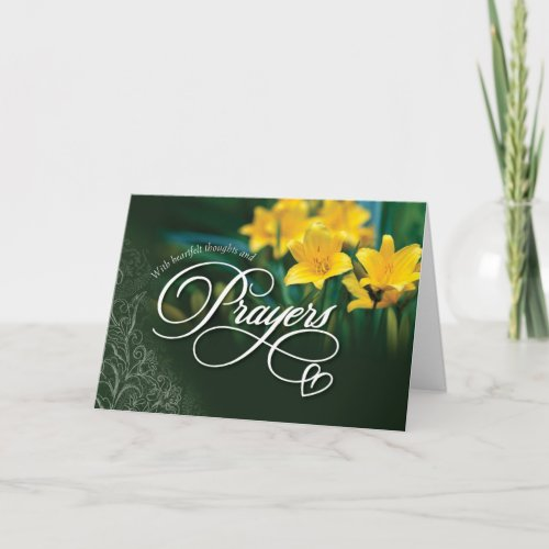 Get Well, With Heartfelt Thoughts and Prayers Card