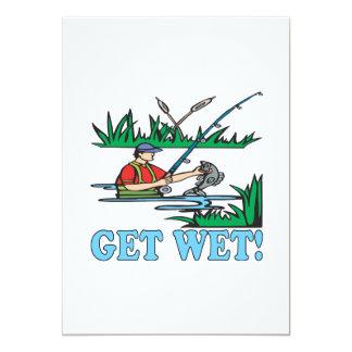 "Get Wet 5"" X 7"" Invitation Card"
