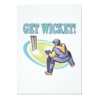 Get Wicket 5x7 Paper Invitation Card