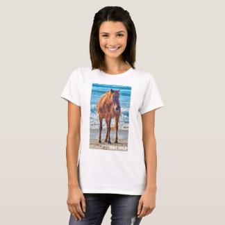 """""""Get Wild"""" Assateague wild beach horse t-shirt"""