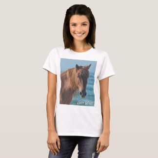 """Get Wild"" Assateague wild horse t-shirt"