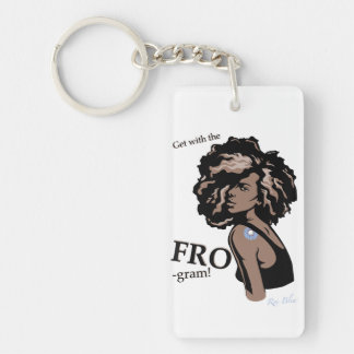 Get With The Fro'gram Natural Hair Keychain