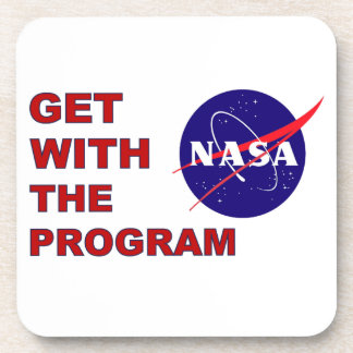 Get With The Program! Beverage Coaster