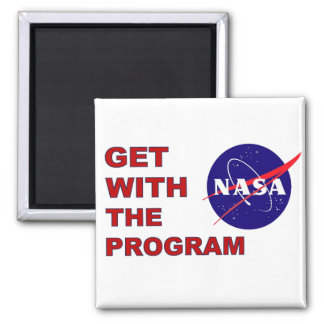 Get With The Program 2 Inch Square Magnet