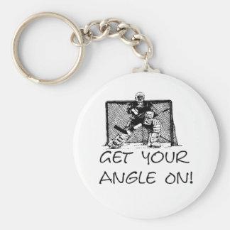 Get Your Angle On - Hockey Goalie Keychain