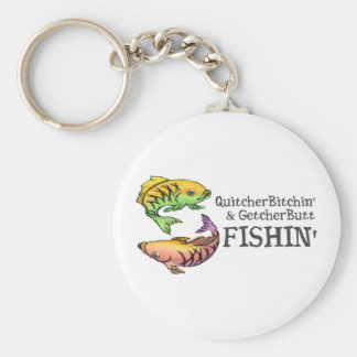 Get Your Butt Fishing! Keychain
