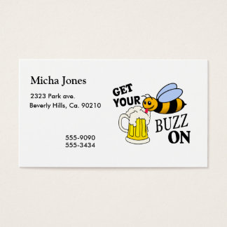 Get Your Buzz On Business Card