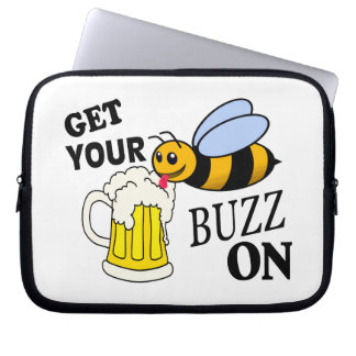 Get Your Buzz On Computer Sleeve