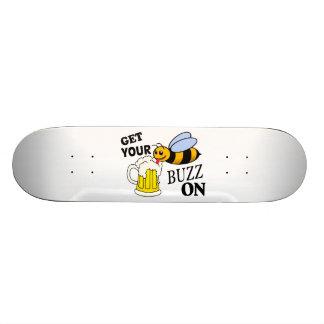 Get Your Buzz On Custom Skateboard