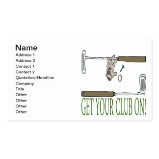 Get Your Club On Business Card Templates