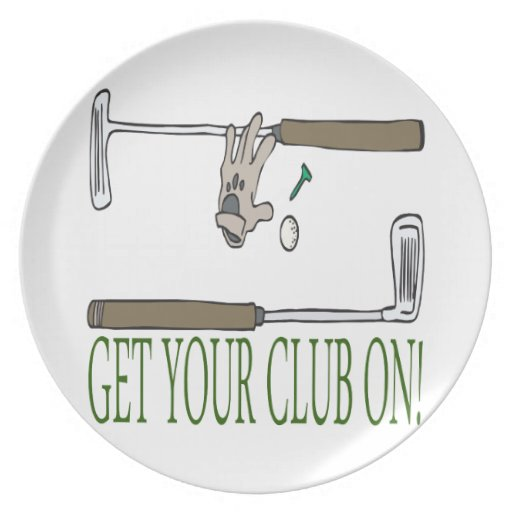 Get Your Club On Dinner Plates